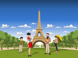 Fototapeta Eiffel - francuski - Rodzina