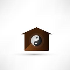 Yin Yang symbol. Balance in the family. Vector illustration.