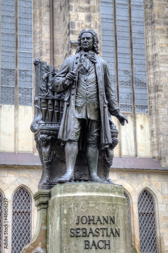 Monument for Johann Sebastian Bach. Leipzig, Germany