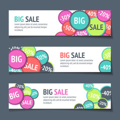 Three Sales Banners