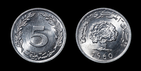 Antique coin of african countries