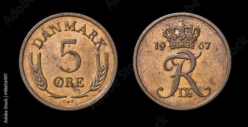 Antique coin of 5 ore