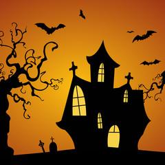 Halloween Haus Hintergrund gruselig
