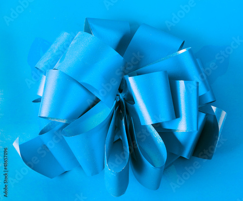 box on the blue background