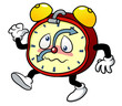 illustration of Cartoon alarm clock