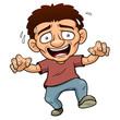 illustration of Cartoon Man scared