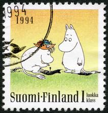FINLANDE - 1994: affiche les caractères Moomin, Amitié