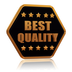 best quality five star hexagon button