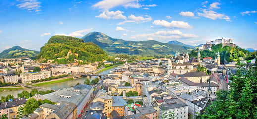 Panoramic view of Salzburg, Austria