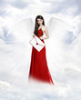 Love angel with letter
