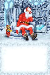 Sleeping Santa Claus at the Ice House