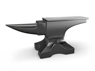 Black metal anvil