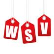 WSV - Winterschlussverkauf - Anhänger - Etiketten - Rot