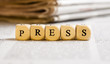 Letter Dices Concept: Press