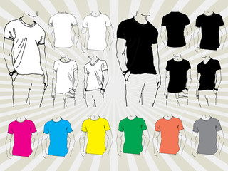 Hand Drawn Templates for T-shirts