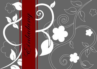 florale Karte, Einladung