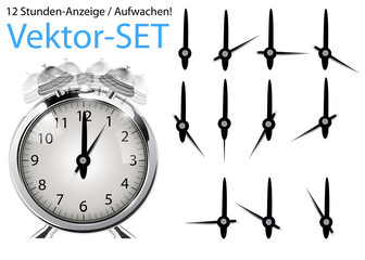 Aufwachen! Vektor-Set