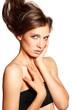 Sensual top model portrait -for hair and skin care products
