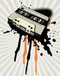 Vintage Tape With Grunge Splash