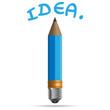 Light bulb, Pencil, and Good idea concept.