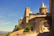 The walled fortress city of Carcassonne, southern France