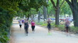People jogging in the Park, Melbourne time lapse