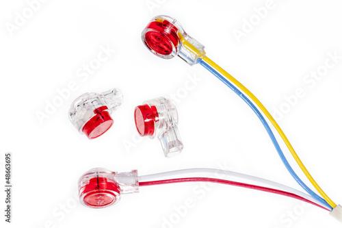 connecteurs de fils téléphonique