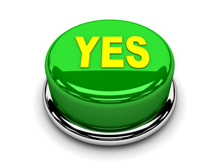 3d button green yes consented push