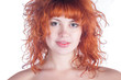 headshot of red headed beauty