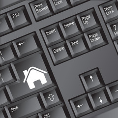 """Internet homepage"" symbol on keyboard"