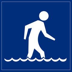 Schild blau - Kneipp Kur