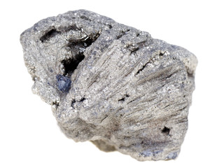 Isolated sample of the mineral Pyrite