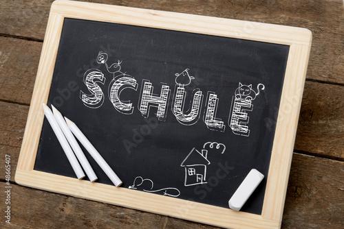 tafel mit kreide schule von gerhard seybert lizenzfreies. Black Bedroom Furniture Sets. Home Design Ideas