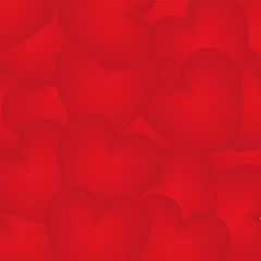 background of red hearts