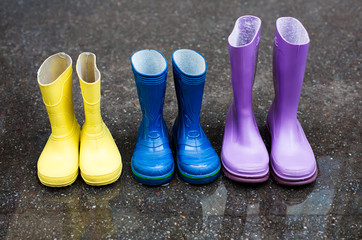 Colorful family boots