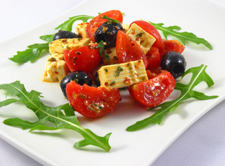 Tomatoes, olives and feta cheese - Tomaten, Oliven und Feta