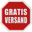 Stopschild rot GRATIS VERSAND
