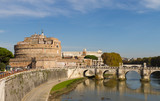 Castel Sant'Angelo and Ponte Sant'Angelo from Rome, Italy