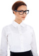 Beautiful businesswoman in glasses