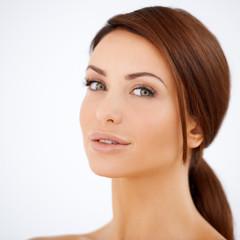 Beauty portrait of a natural woman