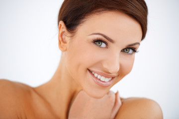 Charming smiling beautiful woman