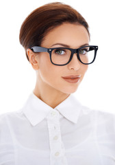 Portrait of beautiful woman in glasses
