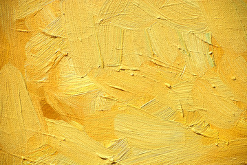 abstract painting for an interior of yellow shades,  illustratio