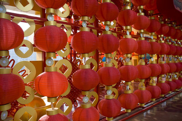 Red lanterns decorating the Chinese New Year