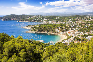 Calella de Palafrugell and Llafranc (Costa Brava) view , Catalon