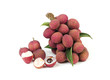 Lychee freshness from the fruit garden growing well in tropical