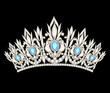 tiara crown women's wedding with a light blue stones