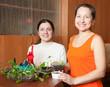 women with  seedlings