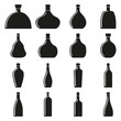 Set of bottles. Vector illustration.