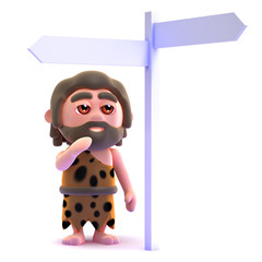 Caveman is lost again